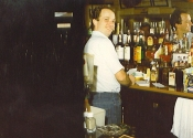 Branson-behind the bar