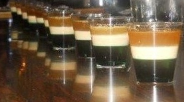 Irish flag shots--our signature St. Patrick's day shots - Copy